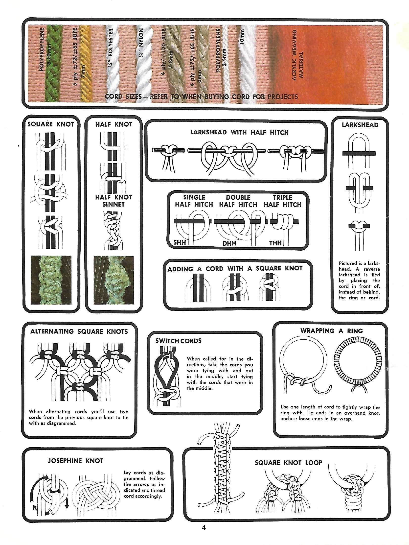 Retro Macrame Patterns Unlimited II Booklet