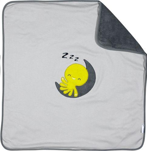 Otto heeft voor je baby's wiegje een superzacht deken. Zo praktisch dat je 't ook in het park kan gebruiken, of meenemen op uitstapjes!