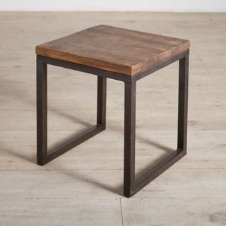 Captivating Cordova Reclaimed Wood And Iron Side Table (India)   This Beautiful Table  Is Made