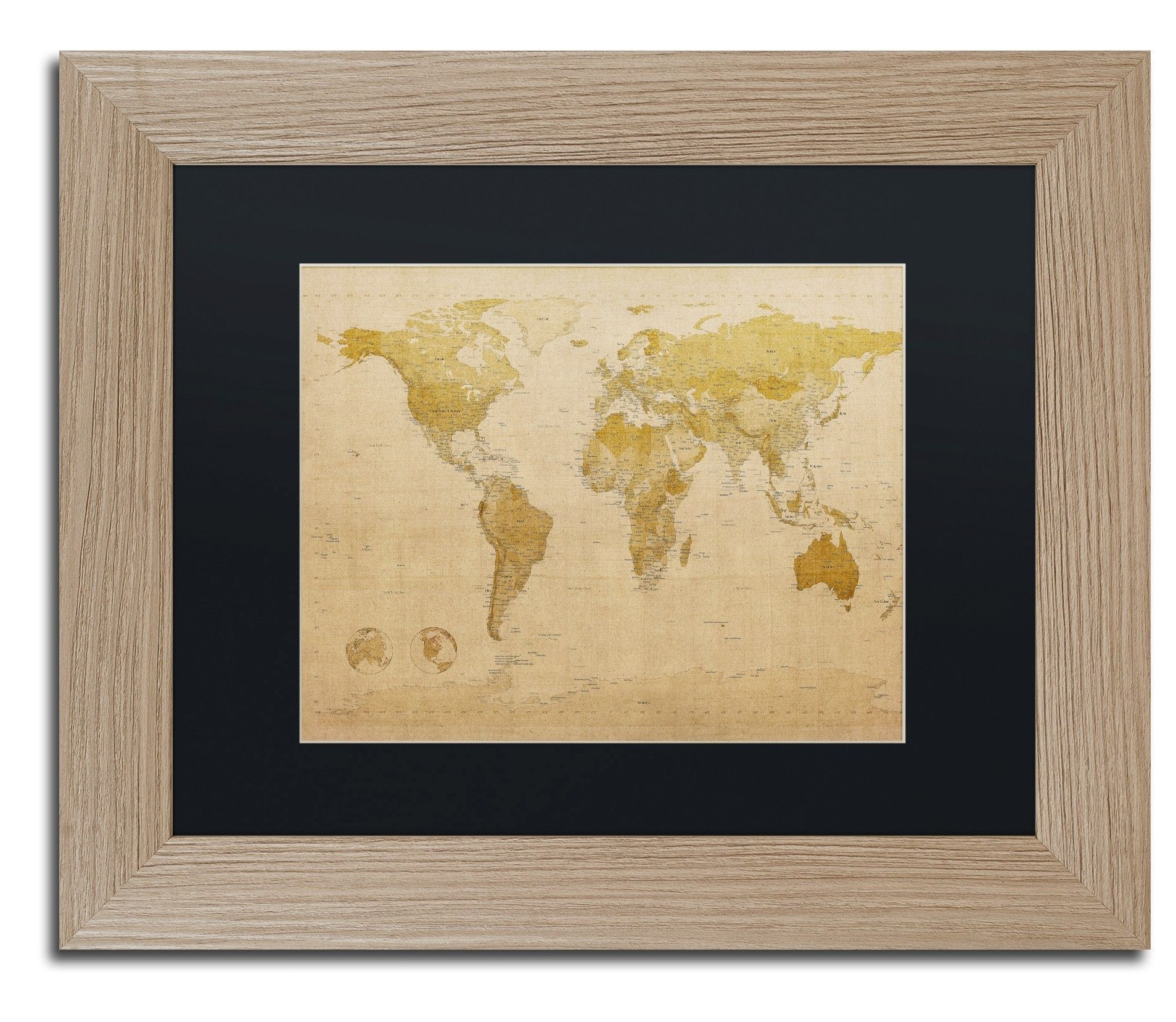 Antique world map by michael tompsett framed graphic art graphic antique world map by michael tompsett framed graphic art publicscrutiny Choice Image
