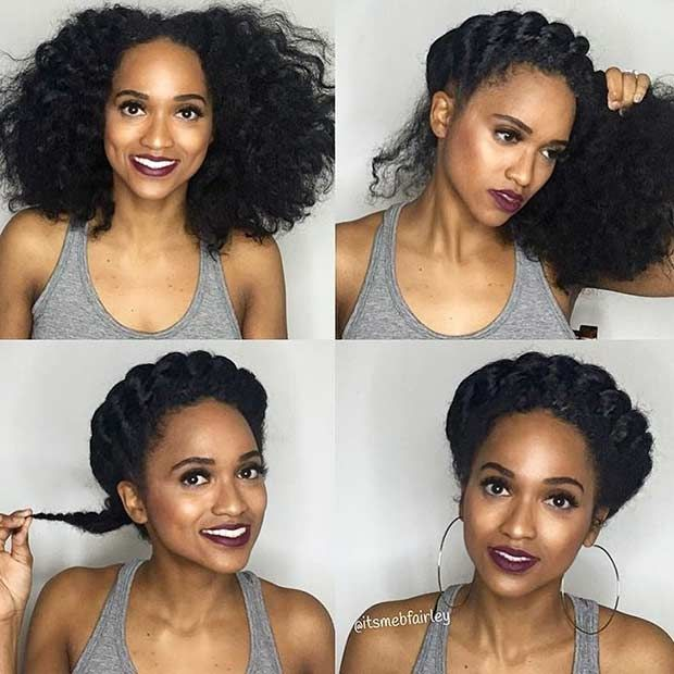 21 Chic And Easy Updo Hairstyles For Natural Hair Stayglam Natural Hair Styles Easy Updo Hairstyles Natural Hair Updo