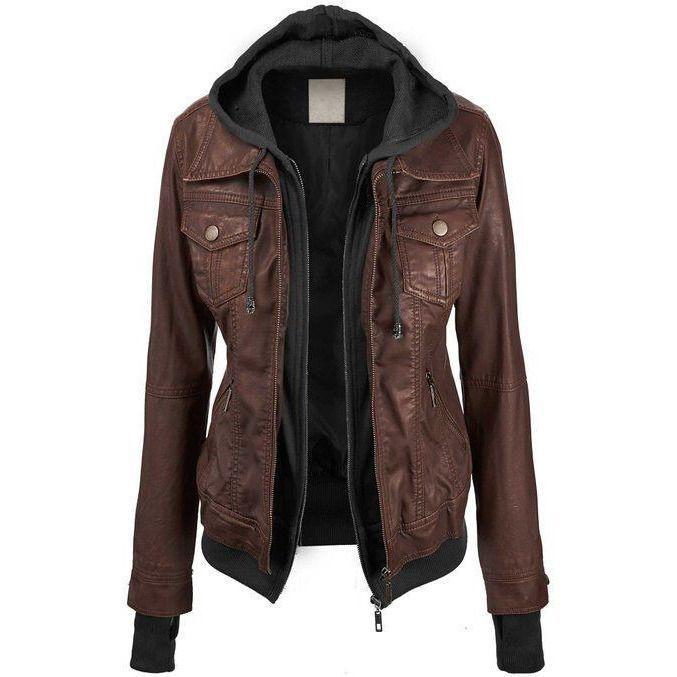 Annalise Womens Leather Jacket Leather Jackets Women Brown Faux Leather Jacket Leather Jacket Outfits