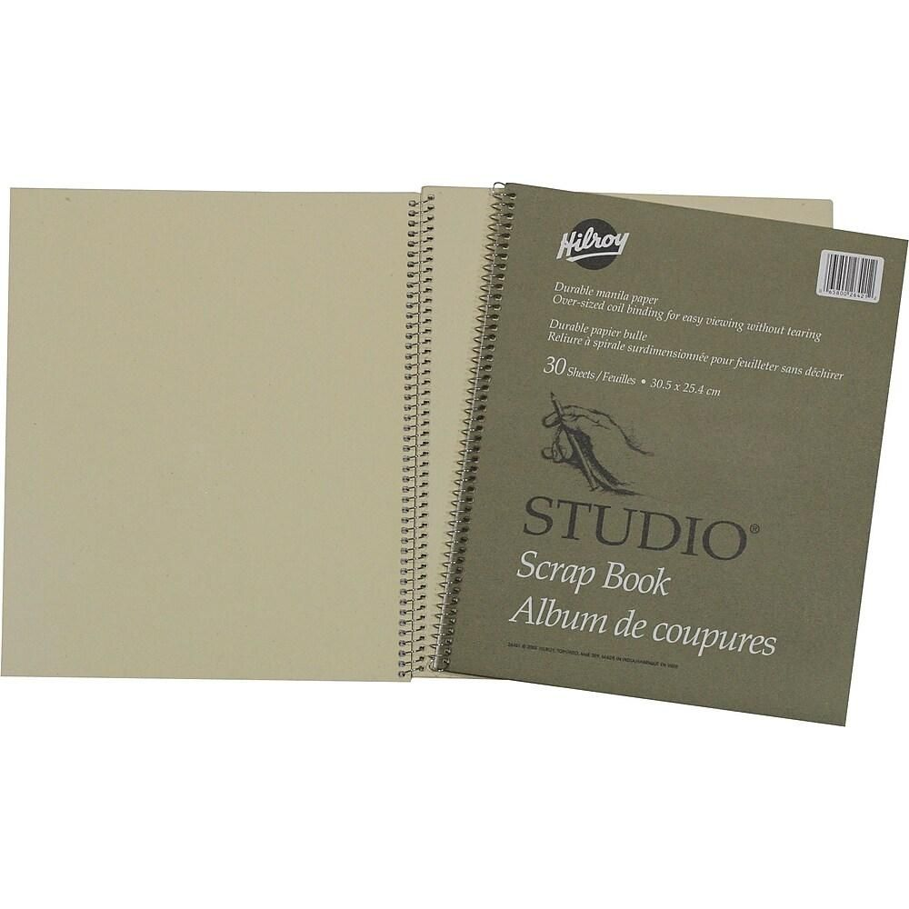 "Hilroy Scrapbook With Oversized Coil Binding, 12"" X 10"