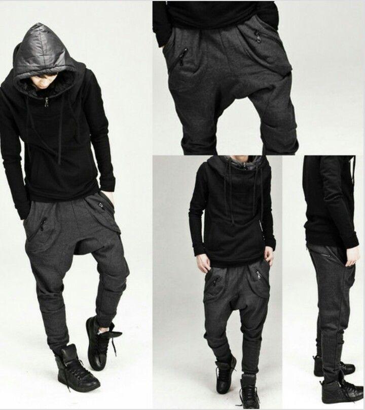 6feb62f5c3 Super Low Harem Drop Crotch Pants | Fashion in 2019 | Low crotch ...