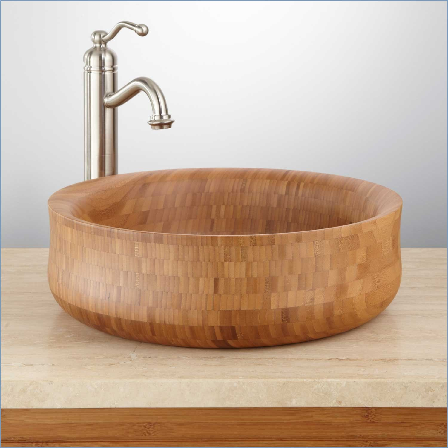 bamboo-vessel-sink-faucet-inspirational-home-bathroom-calhan-round ...