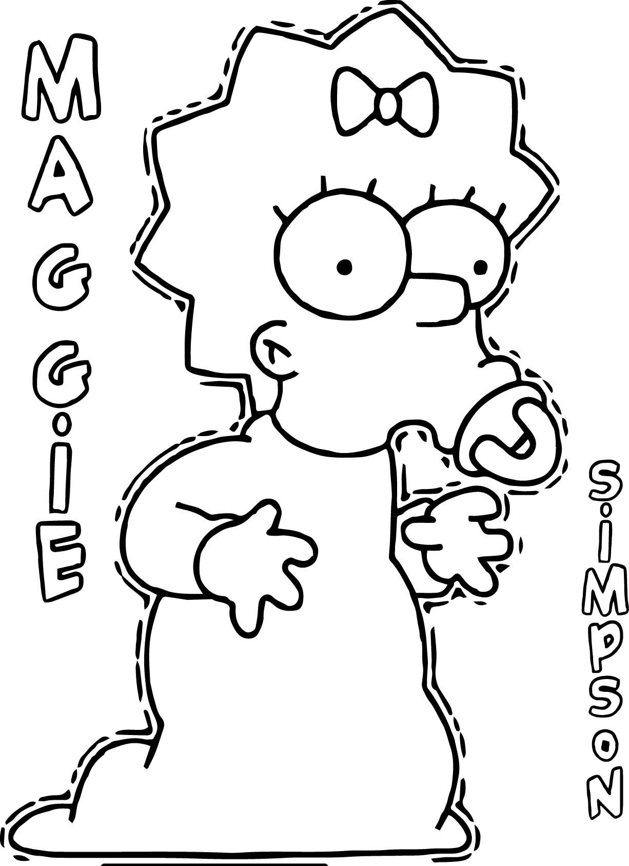 Cool Maggie The Simpsons Coloring Page Coloring Pages Coloring Sheets Mardi Gras Mask