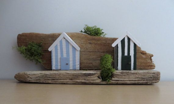Beach Huts at Seaside Nook  Driftwood and Air by ShoreThingsNE