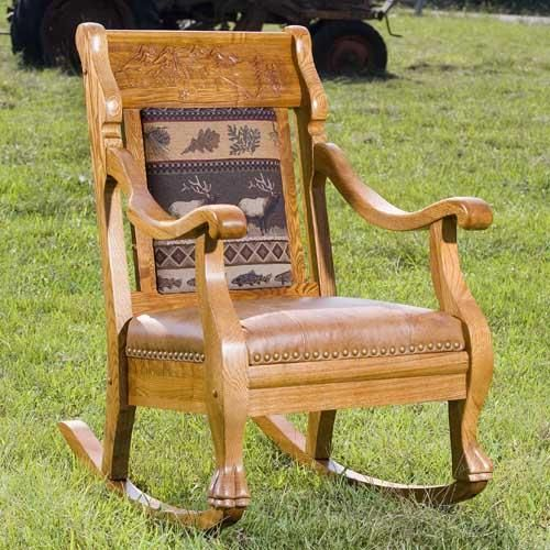Vintage Log Cabin Elk Rocker By Country Road Furniture