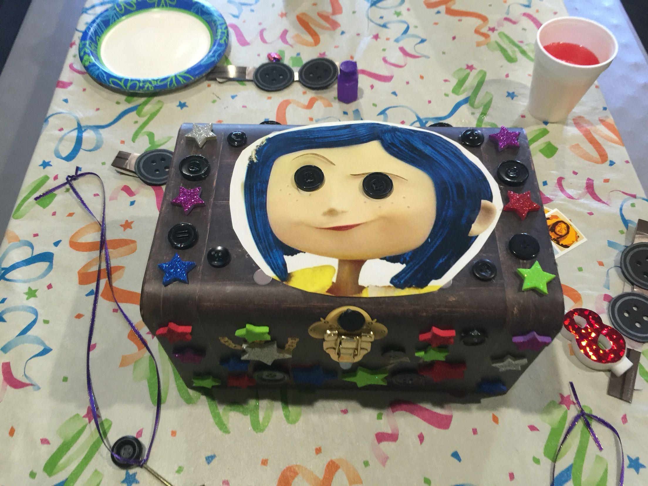 How To Decorate A Treasure Box Coraline Treasure Box  Coraline Birthday Party Decorations