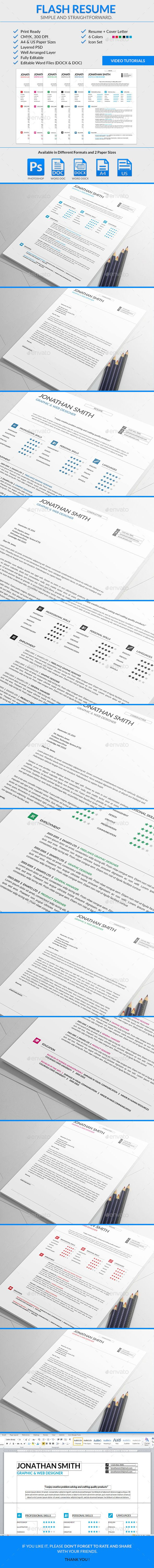 Flash Resume Template  Creative Resume Templates Font Logo And Fonts