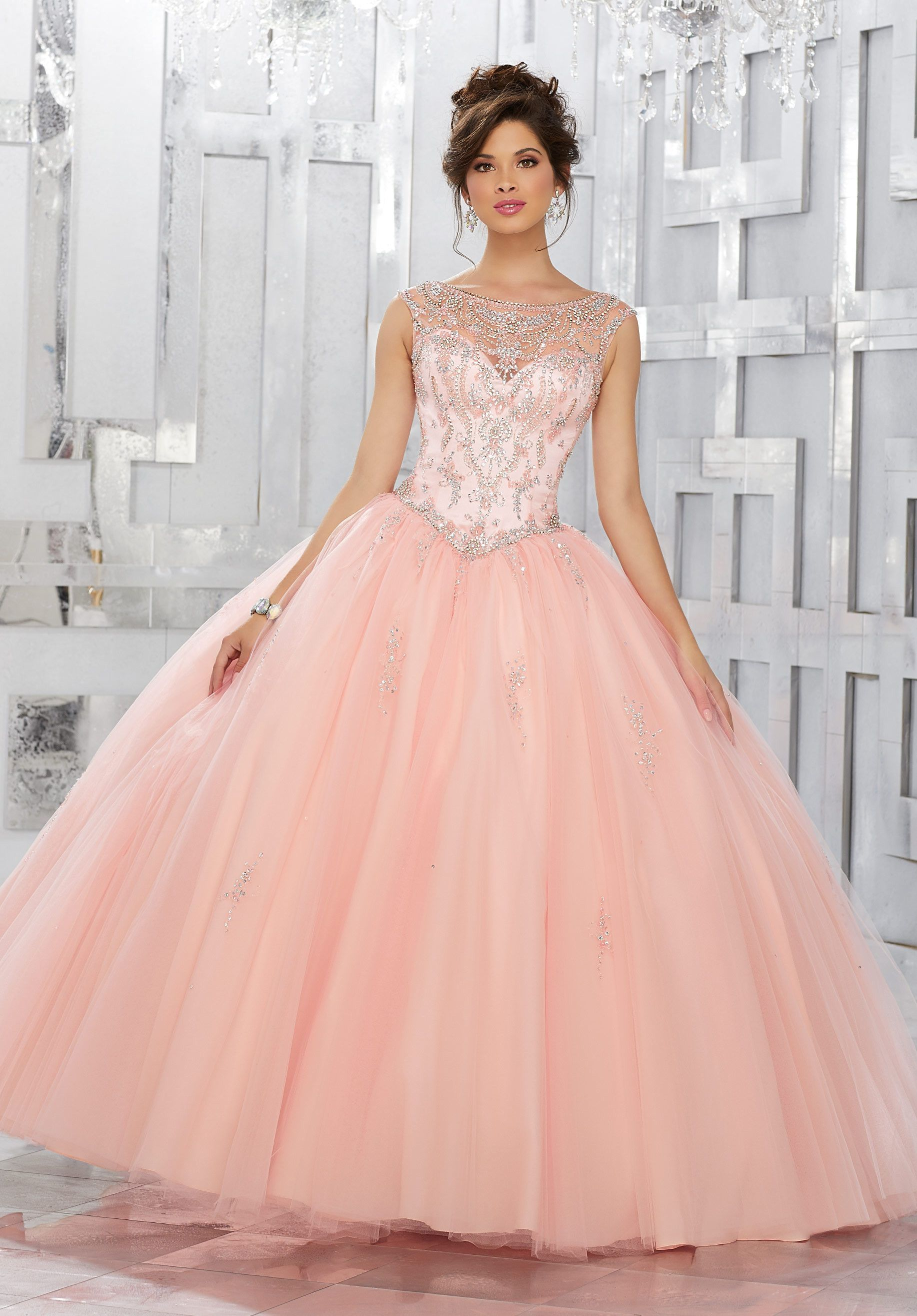Beaded A-line Quinceanera Dress by Mori Lee Vizcaya 89150 | Fiestas ...