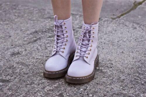 Pastel purple combat boots #lavender