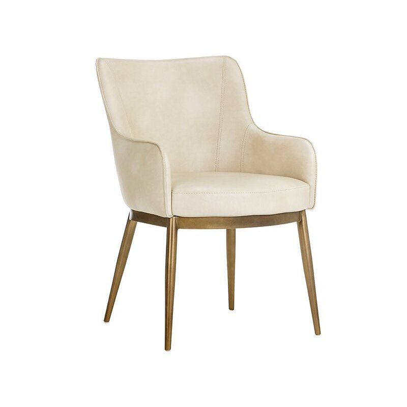 Siciliano Upholstered Arm Chair Dining Chairs Dining Arm Chair Midcentury Modern Dining Chairs