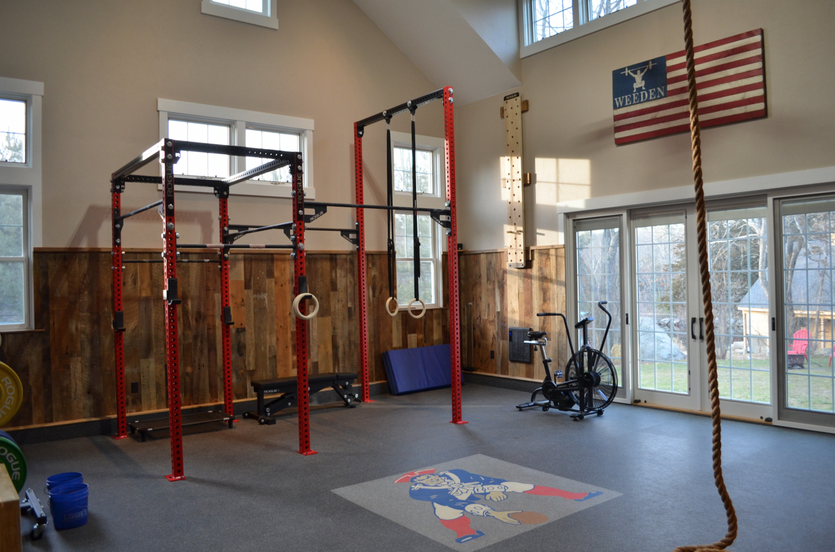 Patriots fan home gym home gym inspiration #dailygymplan daily