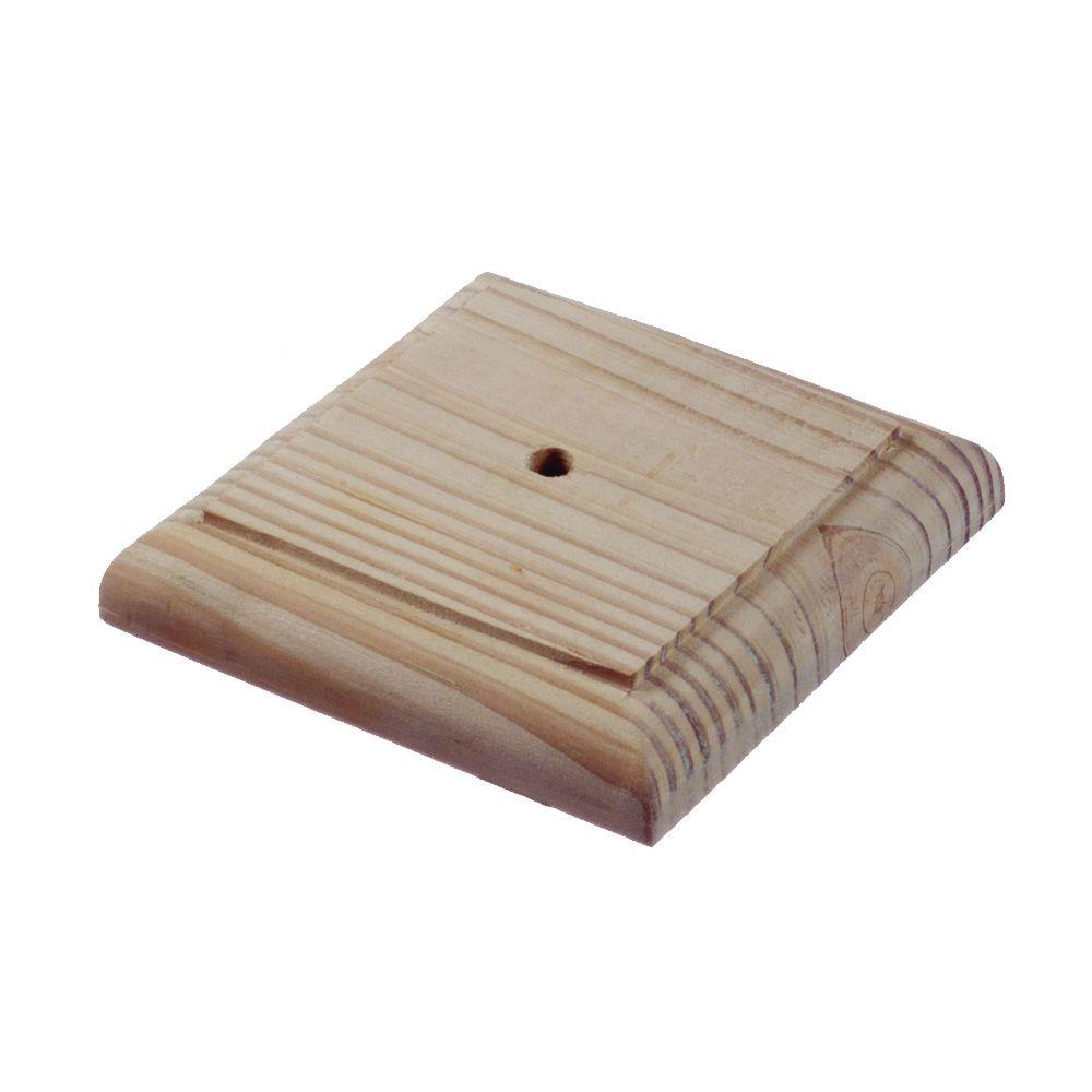 4 In X 4 In Flat Finial Base 6 Pack 189299 The Home Depot Wood Post Post Cap Pressure Treated Wood