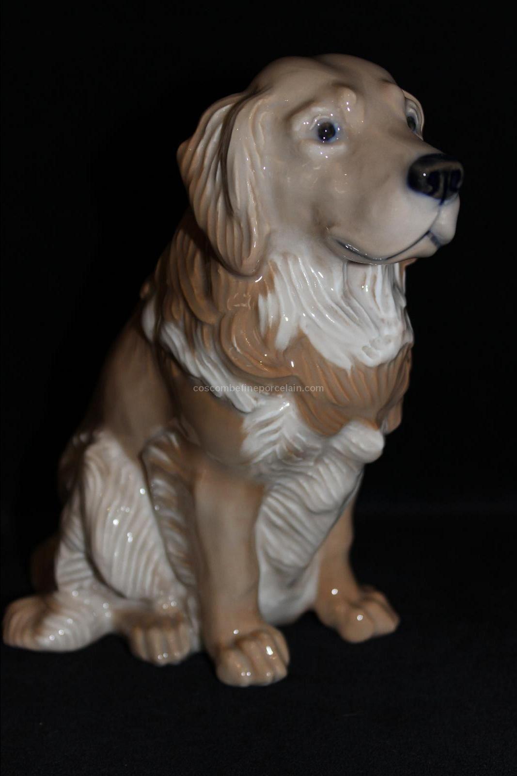 Offer Rare Royal Copenhagen Figurine Golden Retriever Jeanne Grut