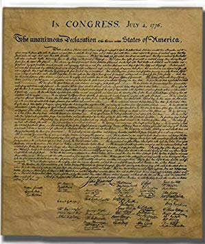 Colorful Fabrics Digitally Printed By Spoonflower 8x8 Swatch Size Declaration Of Independence Mini Declaration Of Independence American Revolution History