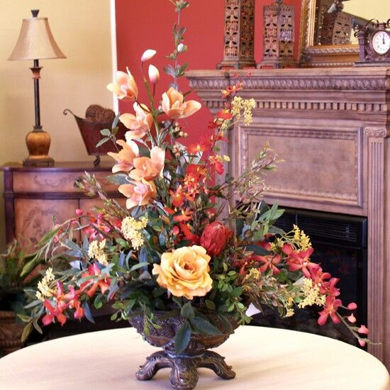 Orchid Rose Silk Floral Home Decor Artificial Rose Arrangement
