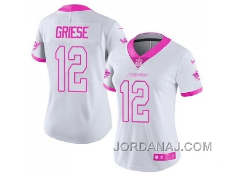 Buy Women s Nike Miami Dolphins Bob Griese White Pink Stitched NFL Limited  Rush Fashion Jersey from Reliable Women s Nike Miami Dolphins Bob Griese  White ... aa2e13d2f
