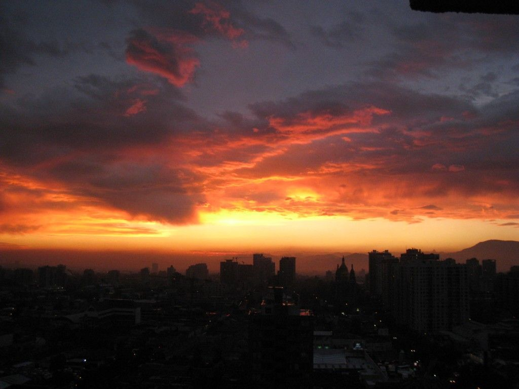 santiago chile, pictures of santiago, pictures of sunsets, great sunset pictures