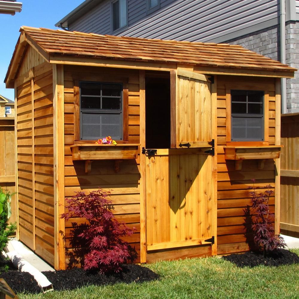 Outdoor Living Today Cabana 6 ft. x 9 ft. Western Red ... on Outdoor Living Today Cabana id=50422