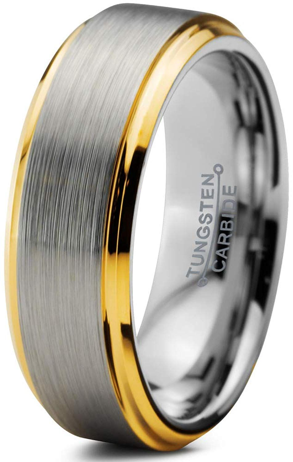ec51c8f68f3cc Charming Jewelers Tungsten Wedding Band Ring 6mm Men Women Comfort ...