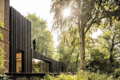 Love! Like! Share! Marchi Architectes - Black house,Normandy 2013. Photos...