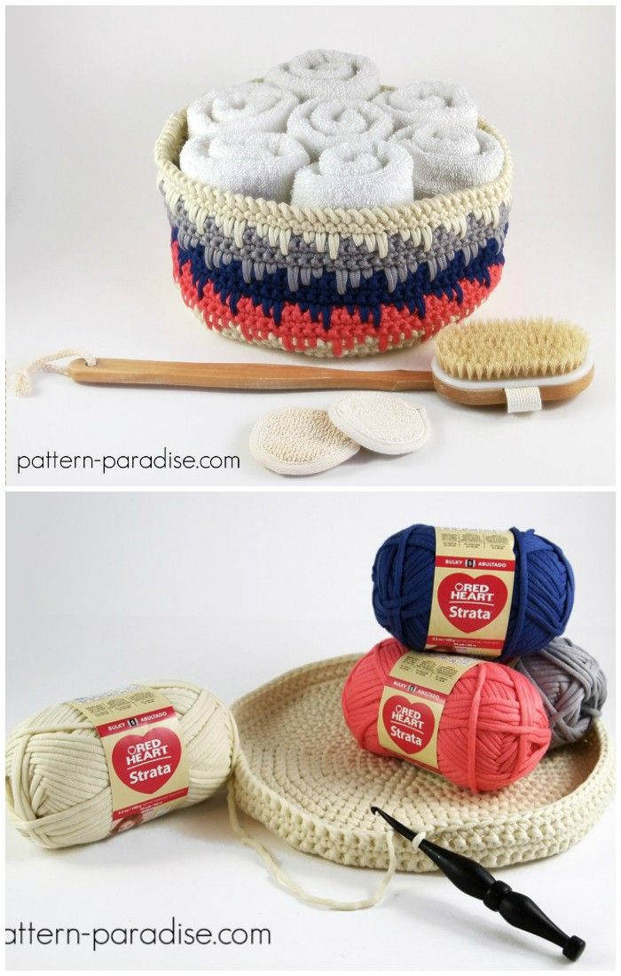 Crochet Basket Patterns To Organize Your Home   Pinterest   Motivo ...