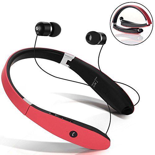 Nuova offerta in #sport : Miglior Auricolare Bluetooth Cuffie Bluetooth 4.1 Senza Fili Disegno Neckband con Earbuds Retraibile per Iphone Android Tablet altri Dispositivi Abilitati Bluetooth (Rosso) a soli 22.94 EUR. Affrettati! hai tempo solo fino a 2016-09-08 23:35:00