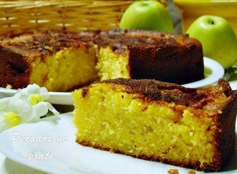 Receitas de pecados no prato: Bolo de iogurte com maçã e crosta de canela
