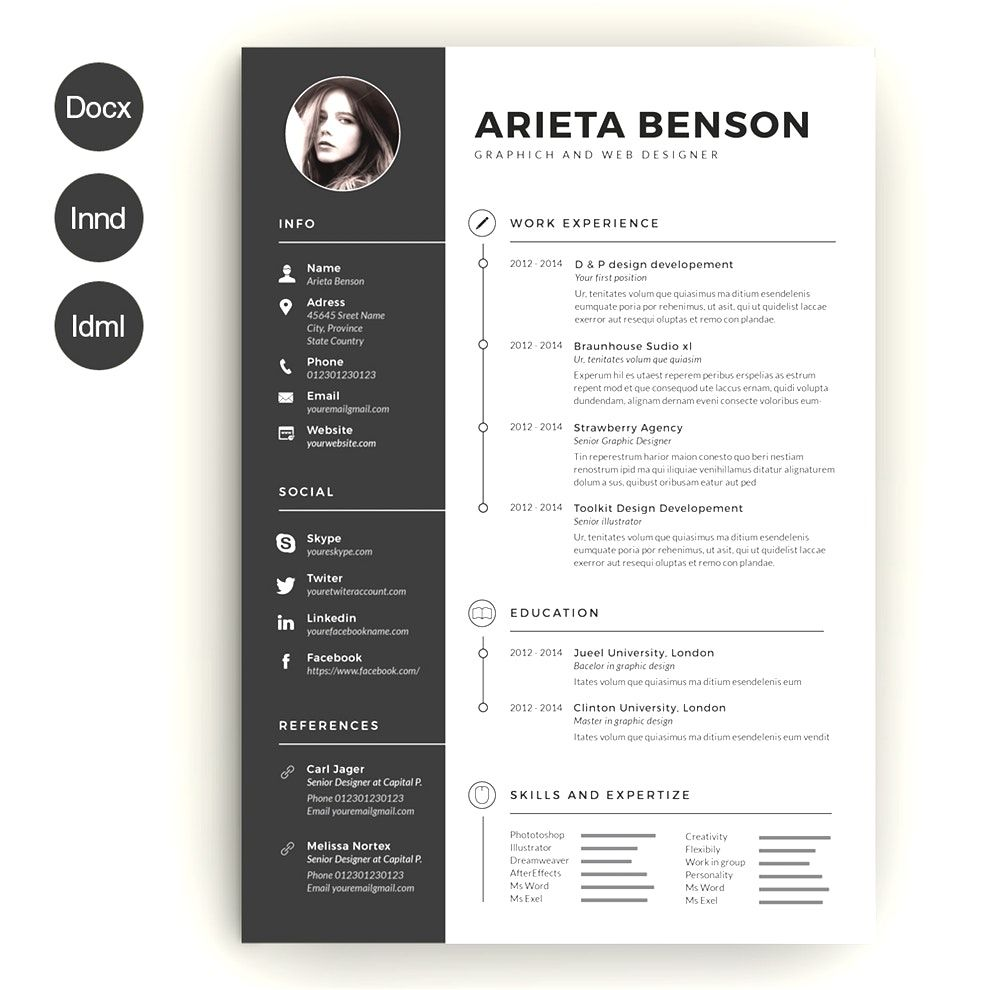Create Free Creative Resume Templates Word Download Cool Best