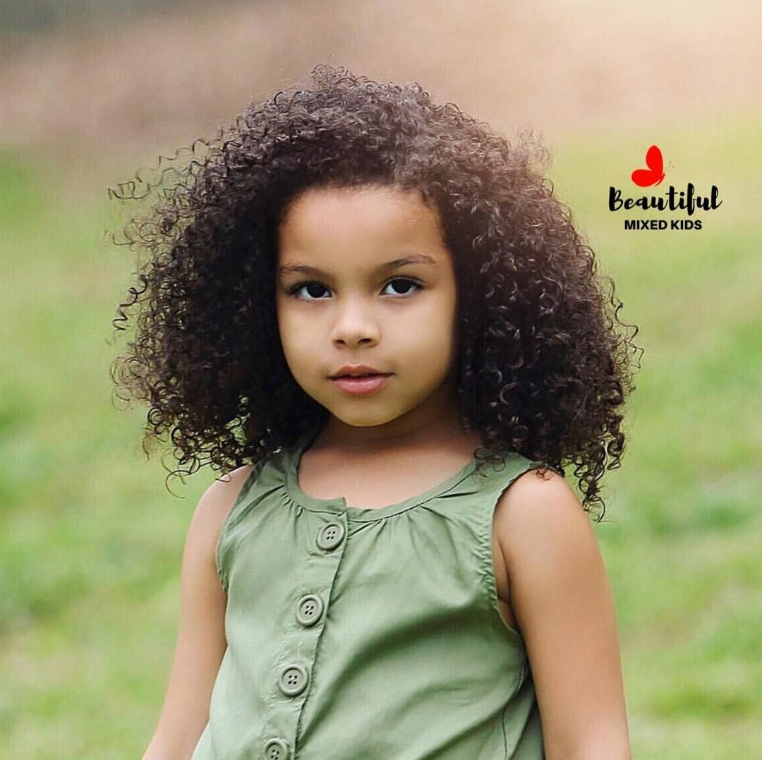Pin By Chyna Collins On Kids Kids Curly Hairstyles Cute