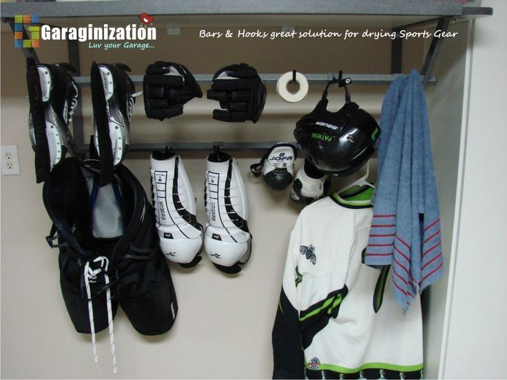 Image Result For Hanging Sports Gear To Dry On Wall Garage Storage Garage Storage Solutions Storage