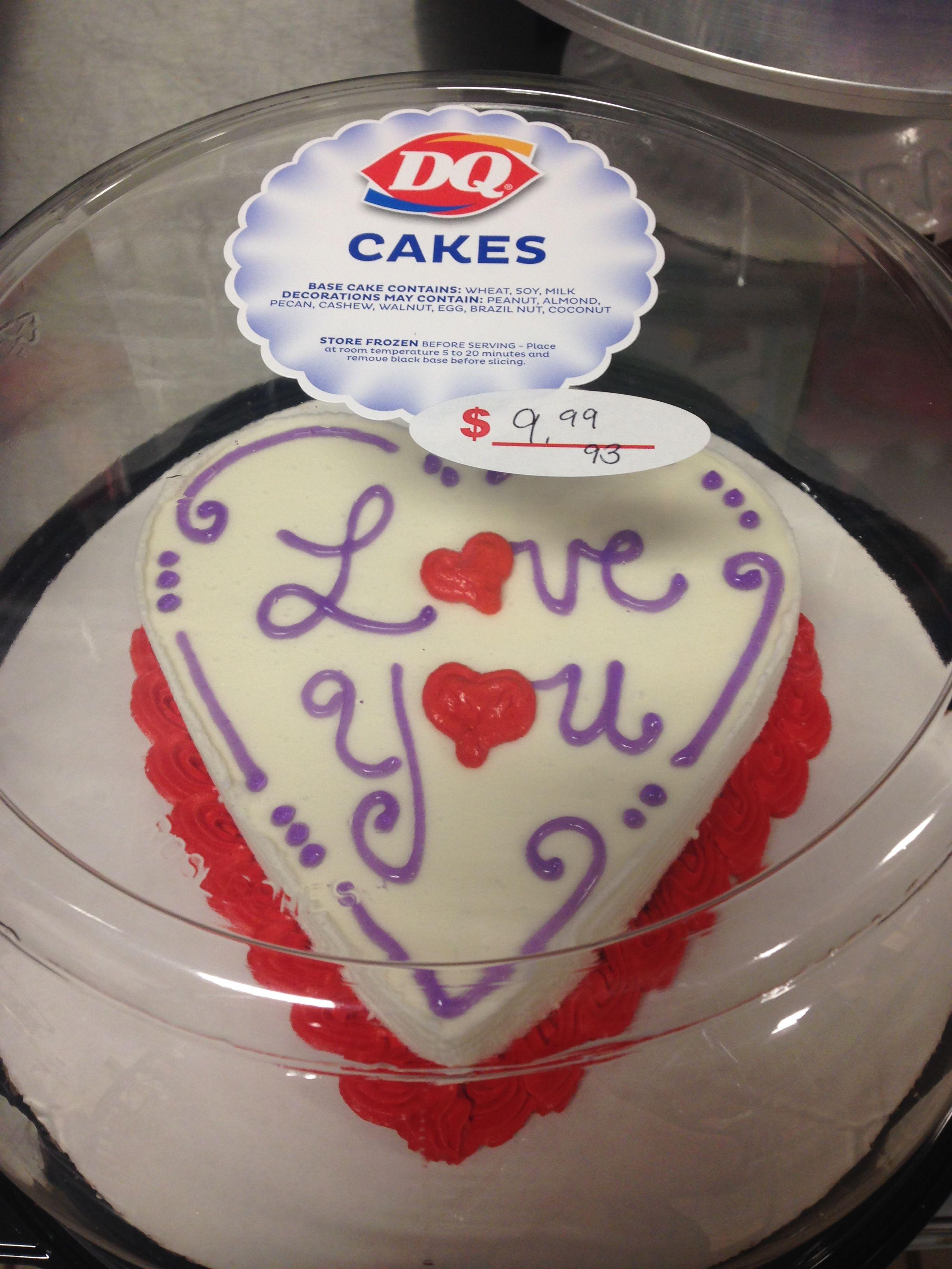 Dq Ice Cream Mini Heart Cake With Images Dairy Queen Ice Cream