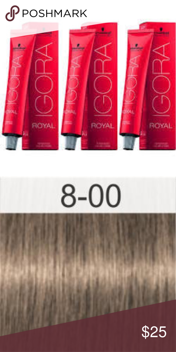 92a3e88151 Schwarzkopf Igora Royal Permanent Hair Color 8-00 3 Tubes - Brand New In  Boxes Schwarzkopf Igora Royal 8-00 Light Blonde Natural Extra Permanent  Hair Color ...