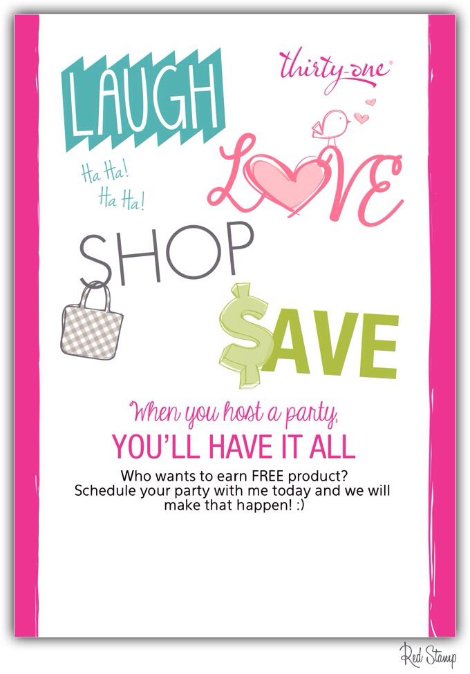 Wanna party and get free thirty-one products?! Contact me! :) Www ...
