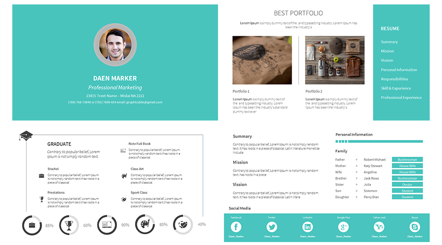Powerpoint Resume Image Result For Powerpoint Template For Resume  Diah  Pinterest