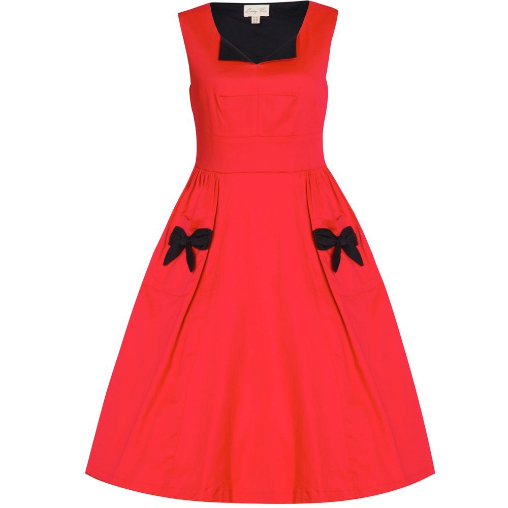 Lamouru red swing dress icanpinarainbow modest rockabilly
