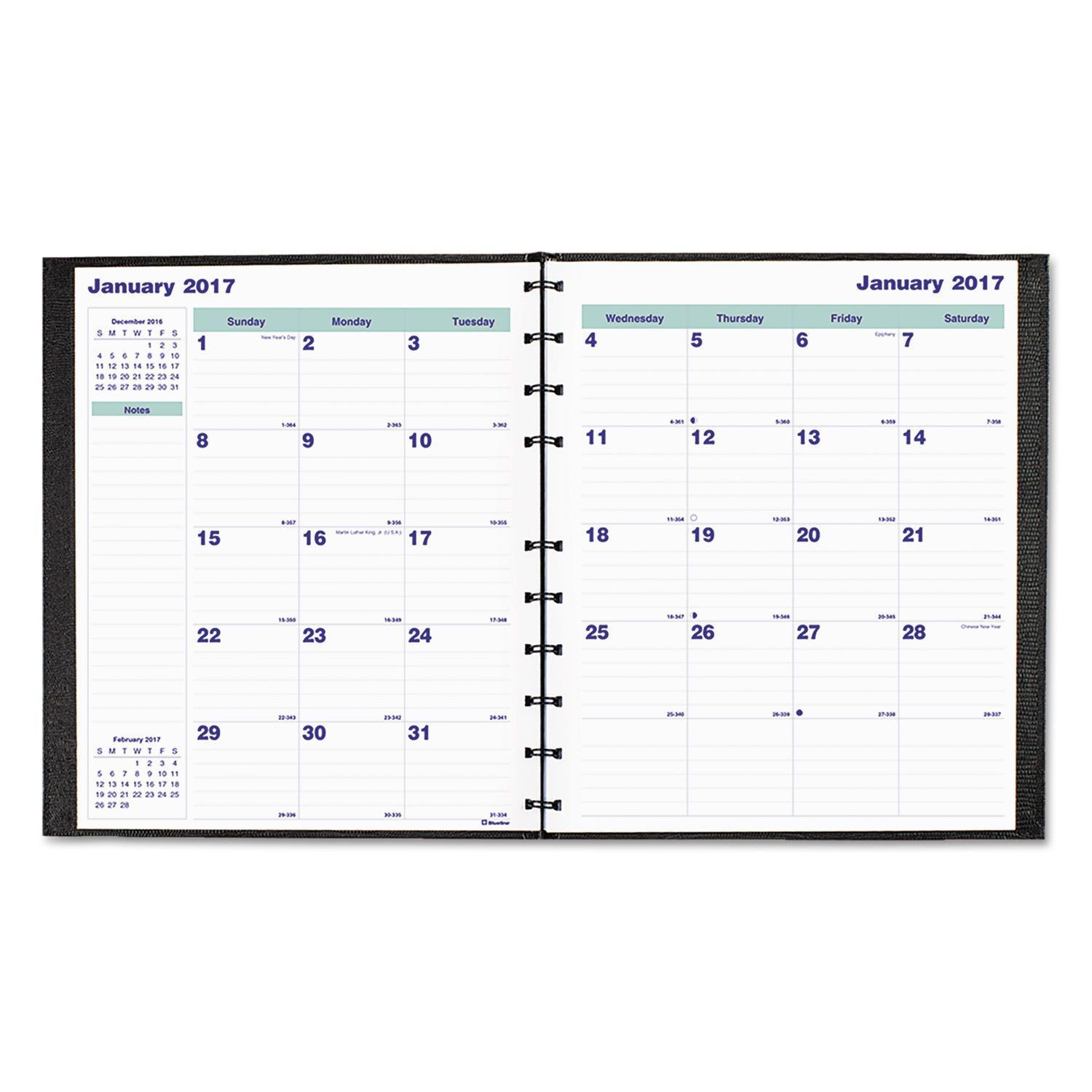 Blueline Miraclebind 17 Month Academic Planner Hard Cover