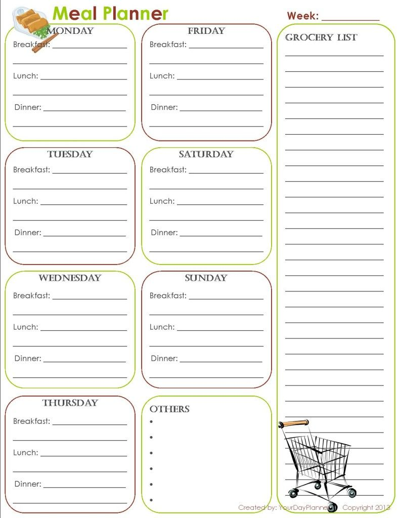 Free Printables Meal Planner Grocery List Math Worksheets Kids Math Worksheets Free Meal Planner [ 1024 x 791 Pixel ]