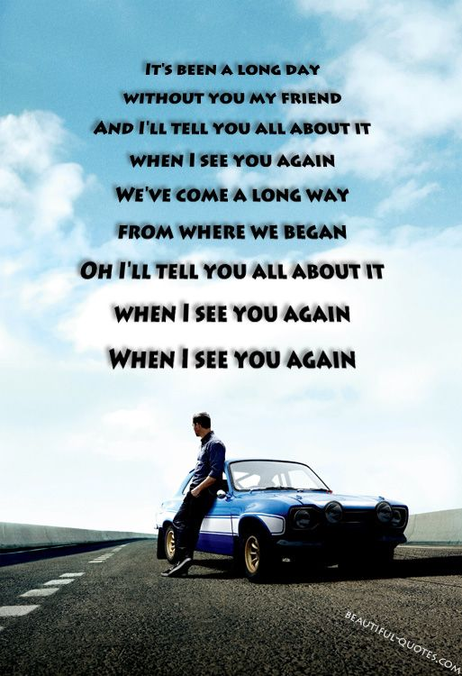When I See You Again Beautiful Quotes When I See You Beautiful Lyrics Song Lyric Quotes