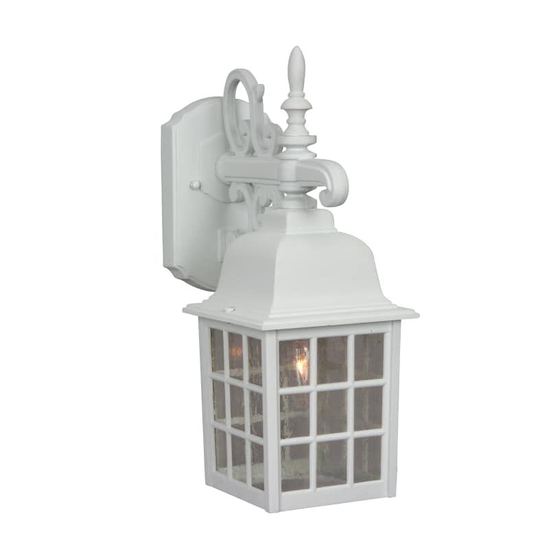 white outdoor lights back yard patio craftmade z270 grid cage 15