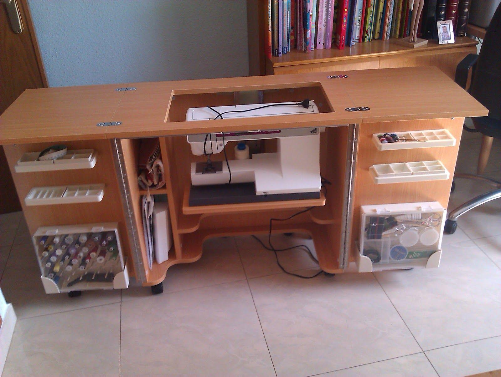 Mueble maquina coser muebles m quina de coser for Mueble organizador de costura