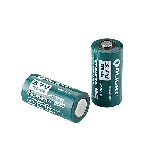 2 Pack Olight 650mah 16340 RCR123A 3.7v Lithium-ion Rechargeable Battery Olight http://www.amazon.com/dp/B00YRX8PEY/ref=cm_sw_r_pi_dp_OW4Dwb16FYTQY