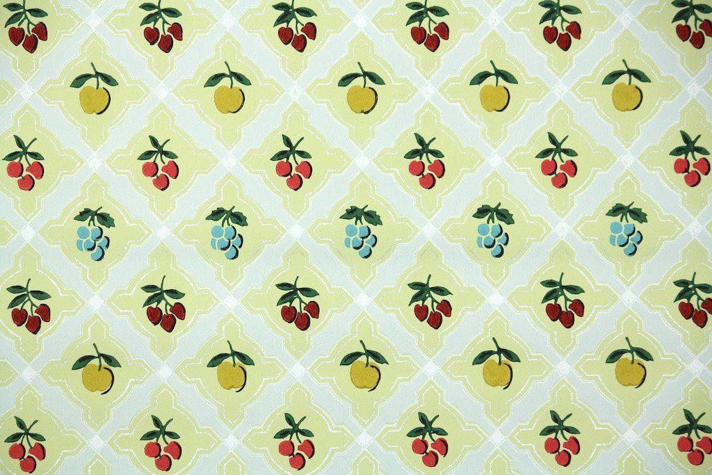 1950s Kitchen Vintage Wallpaper Kitchen Wallpaper Patterns