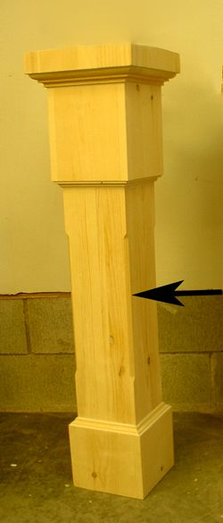 Best Square Newel Post With Chamfered Edges Square Newel 400 x 300