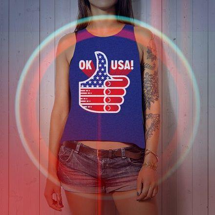 "MADE BY SUPERIOR ""OK USA!"" TANK TOP #MadeBySuperior #OKPANTS #USA #RedWhiteAndBlue #Patriotic #Proud #July4th #TankTop"