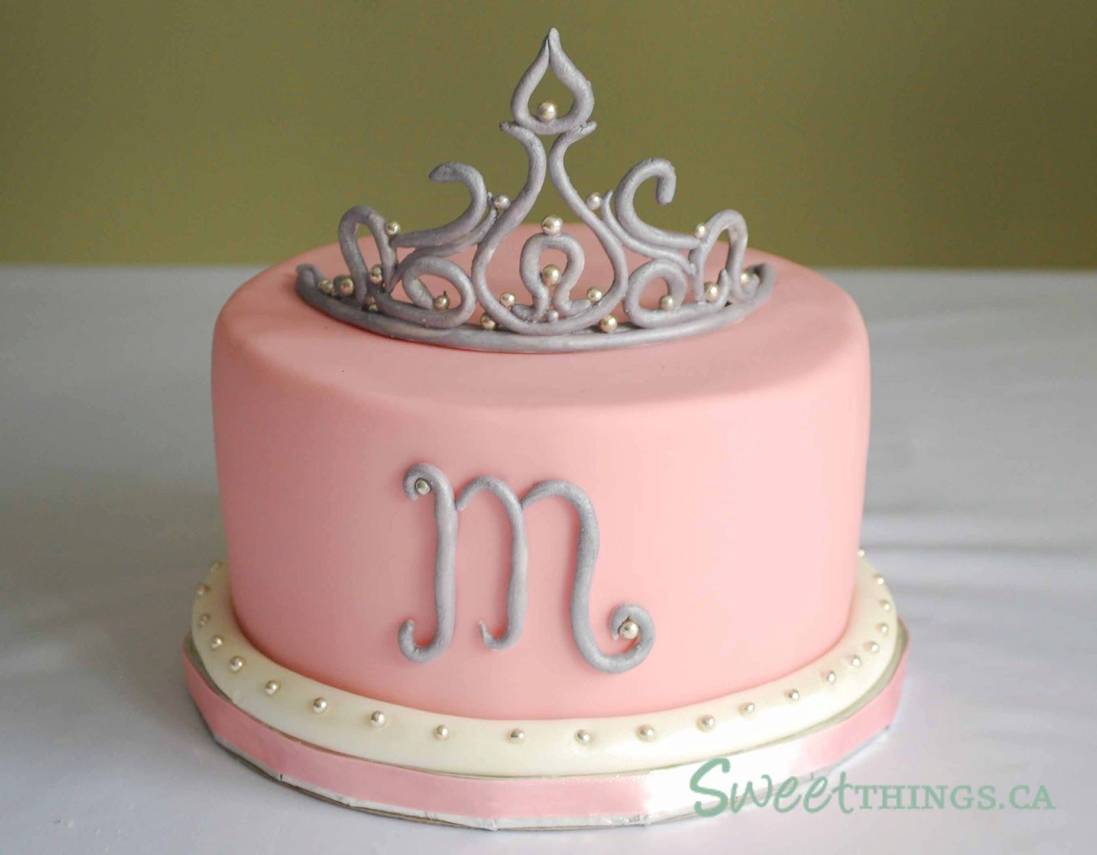 Sensational 8Th Birthday Tiara Cake With Images Tiara Cake Cake Girl Cakes Funny Birthday Cards Online Amentibdeldamsfinfo