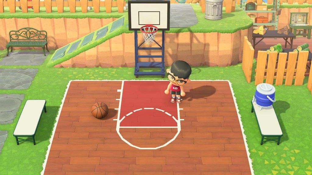 Made A Custom Half Court Design Creator Id Ma 7746 3776 0655 Ac Newhorizons In 2020 Animal Crossing Game Animal Crossing Animal Crossing 3ds