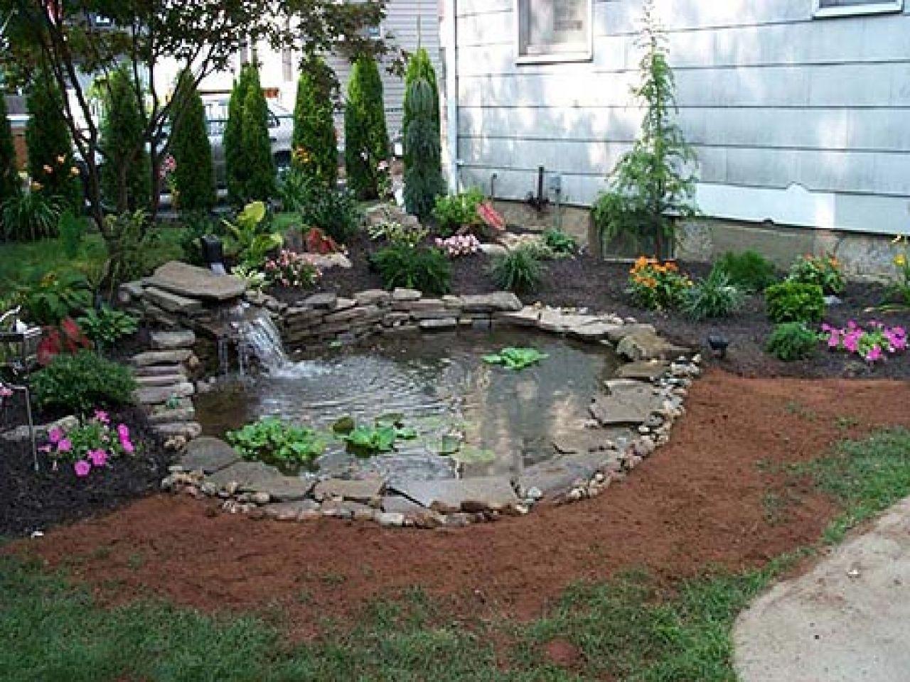 landscape pond - Google Search | Small backyard ponds ...